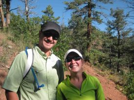 Justin and Kristin on the colorado trail