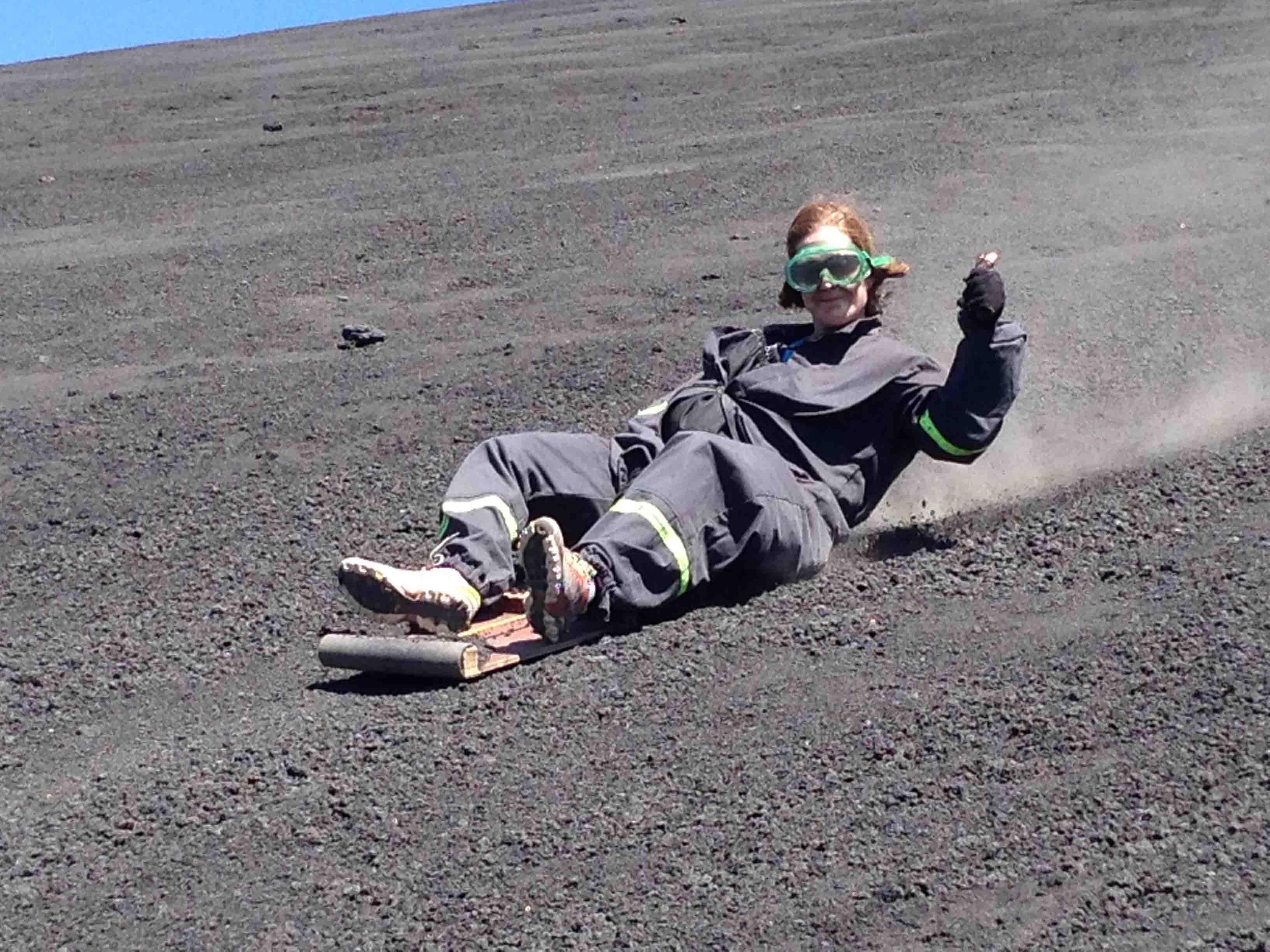 sandboarding at cerro negro
