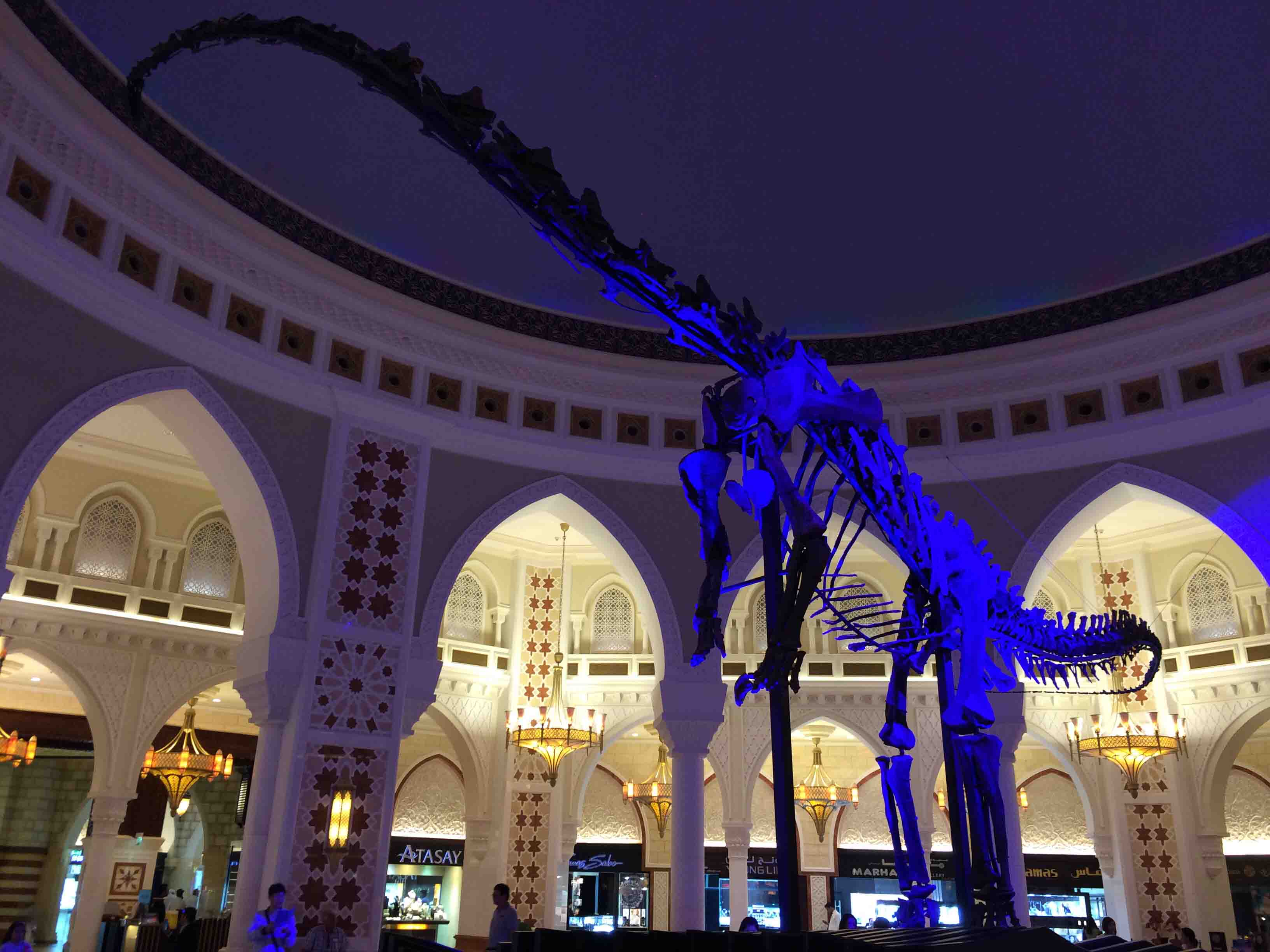 dinosaur in Dubai Mall