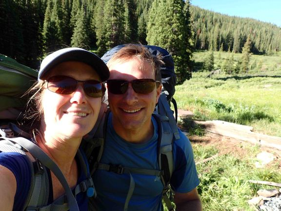 me and david on the colorado trail