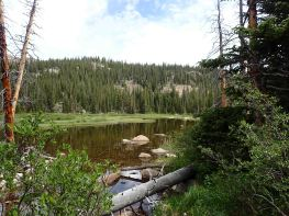 lake on segment 10 of the Colorado trail