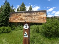 sign for the Colorado Trail