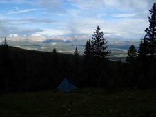 awesome campsite except for the electrical storm