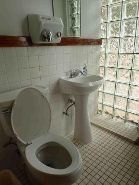 Woohoo! A bathroom.