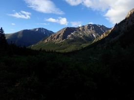 view on mt massive trail