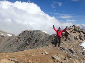 David summitting mount massive