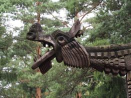 wood dragon carving