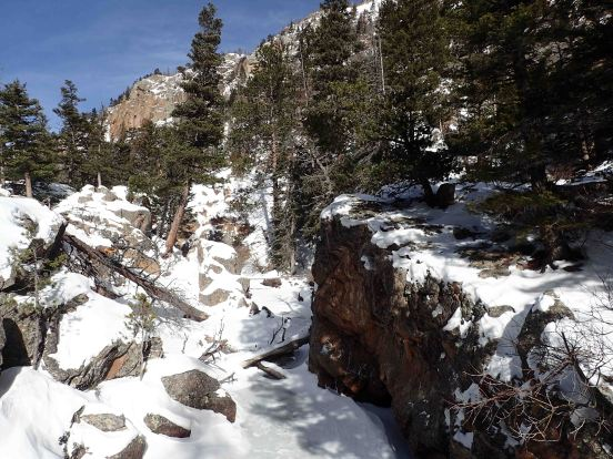 snow covered creek