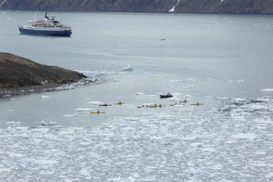 kayaking in the arctic brash ice