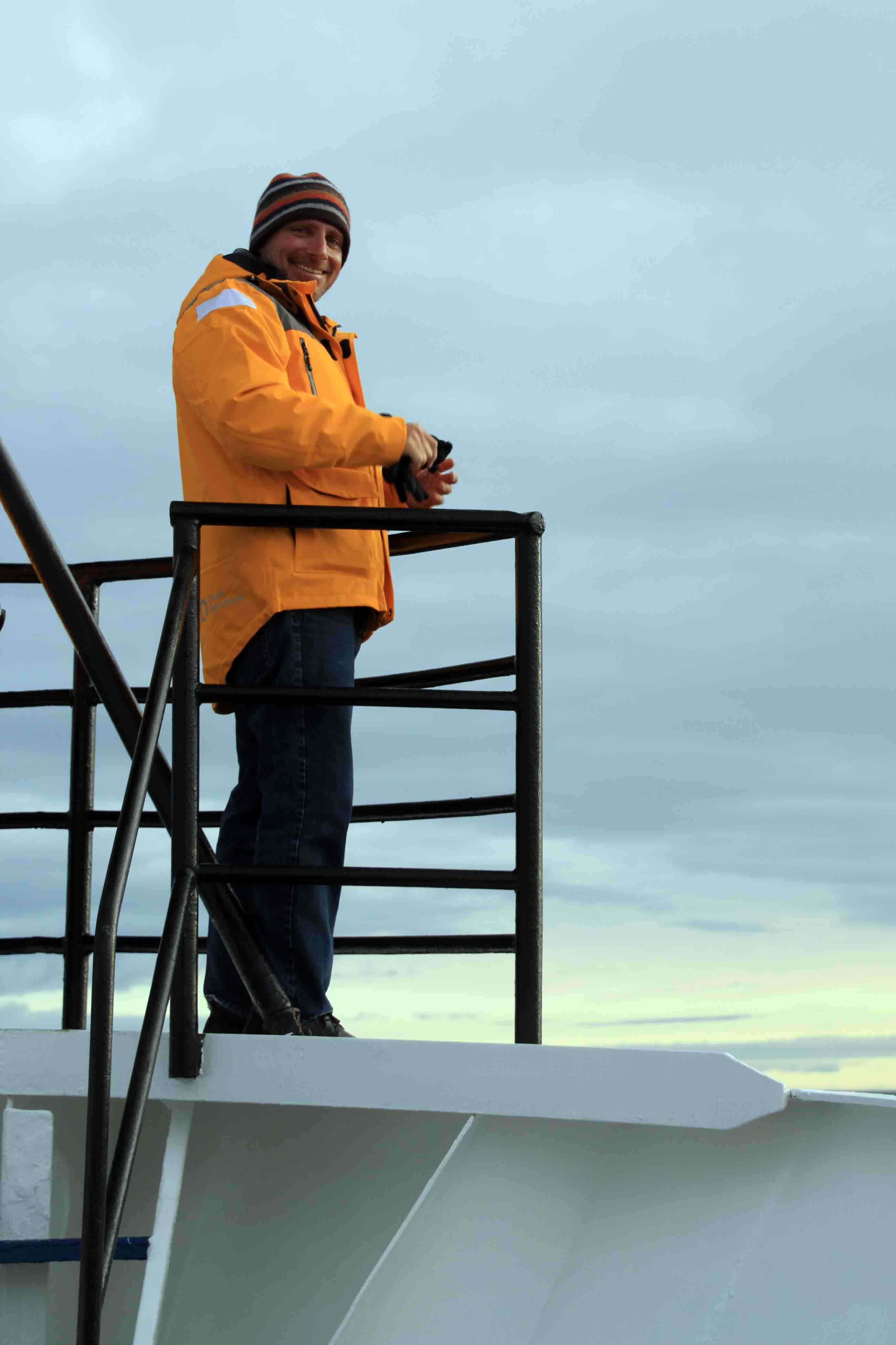 David on the ship in Longyearbyen, Spitsbergen