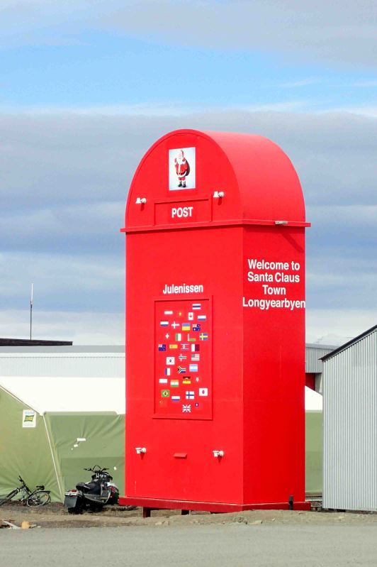 santa's mailbox in Longyearbyen, Spitsbergen