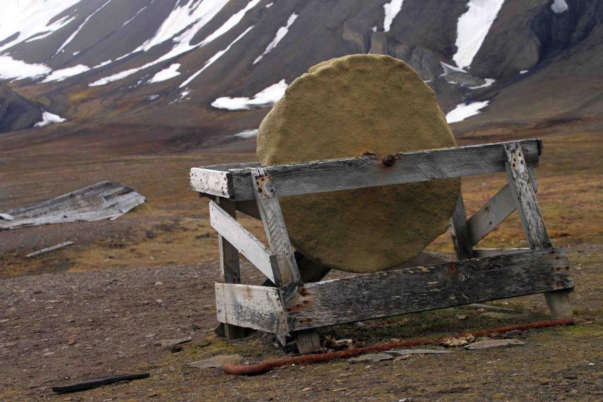 stone wheel in southwest spitsbergen