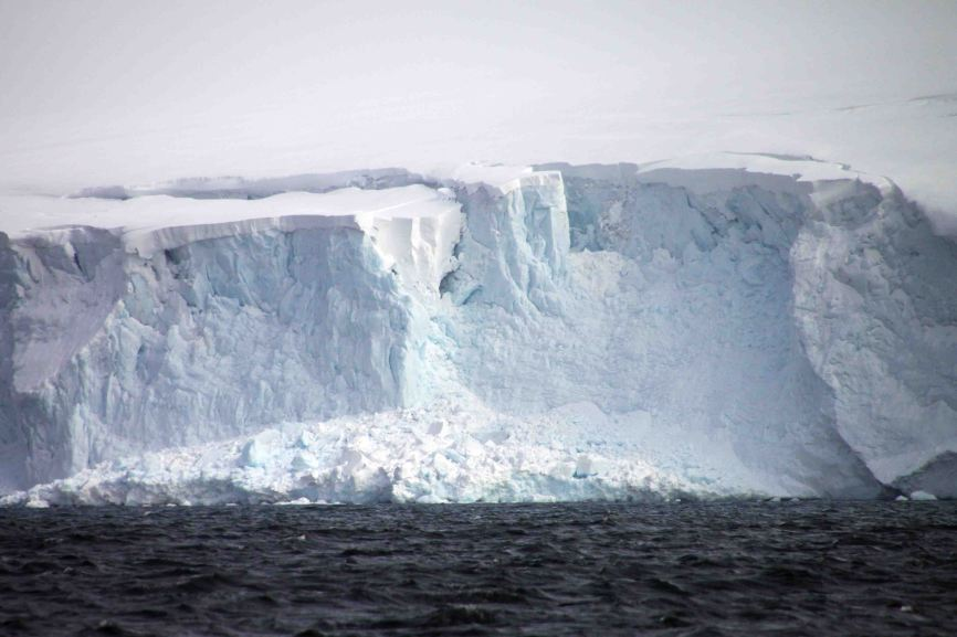 glacial face on the island