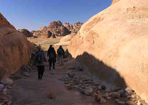 trail to petra