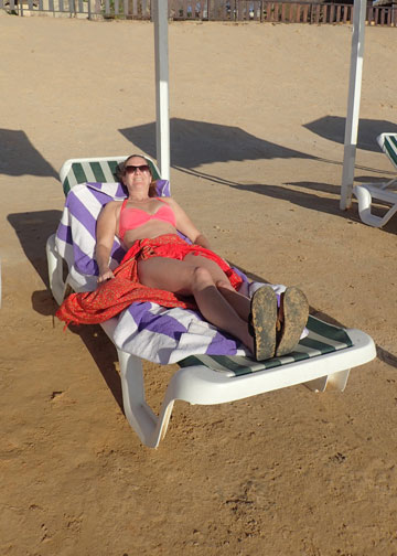 relaxing at the dead sea