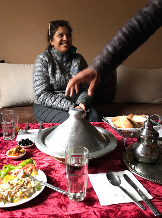 our meal in the high atlas mountains