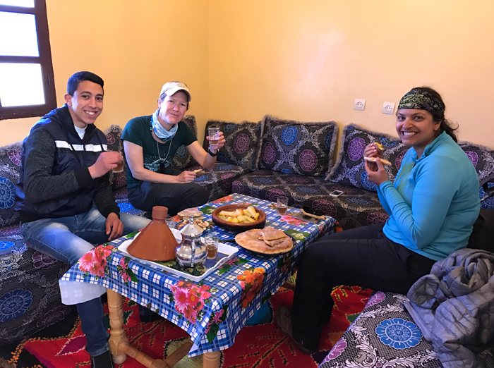 lunch at omar's family's house