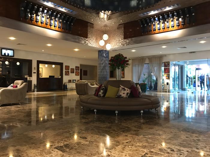lobby in Le Méridien N'Fis hotel in marrakesh