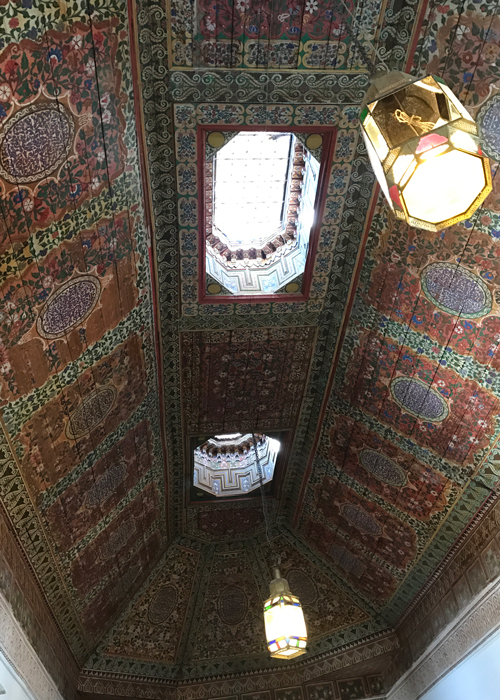 ceiling at la bahia palace