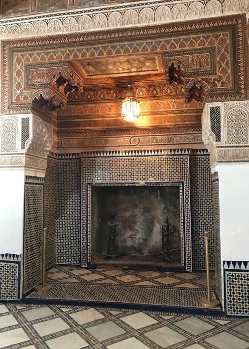 fireplace at la bahia palace
