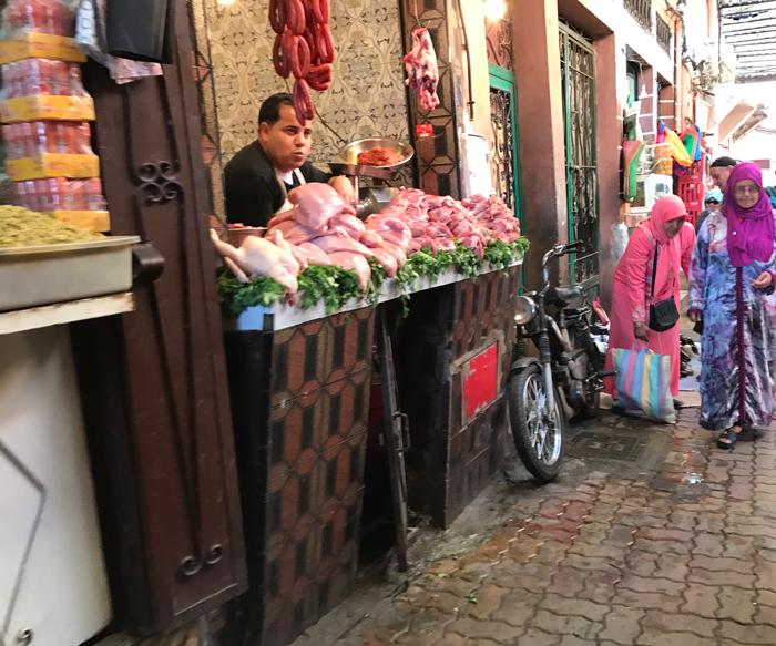 butcher in Marrakesh medina
