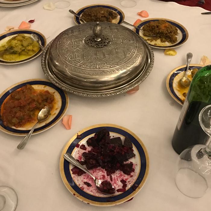 dinner at Ksar El Hamra