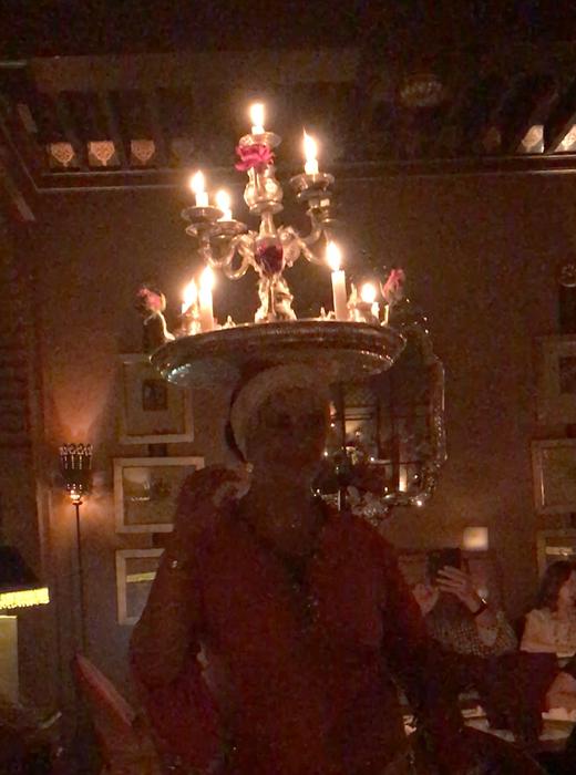 candelabra dancer at at palais jad mahal
