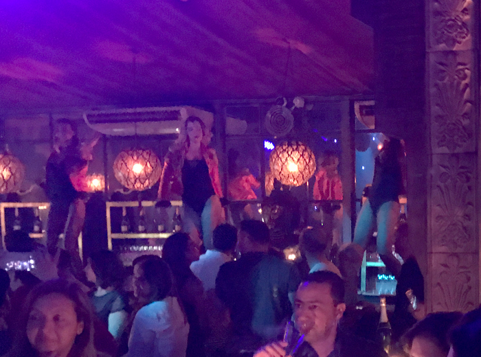 dancing on the bar top