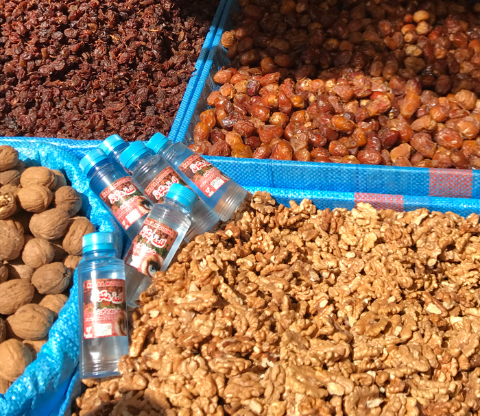 dates and nuts in rabat medina