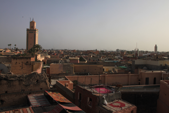 rooftop at dar mejbar in marrakesh medina