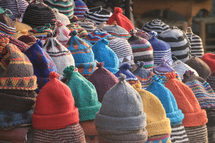 hats in marrakesh medina