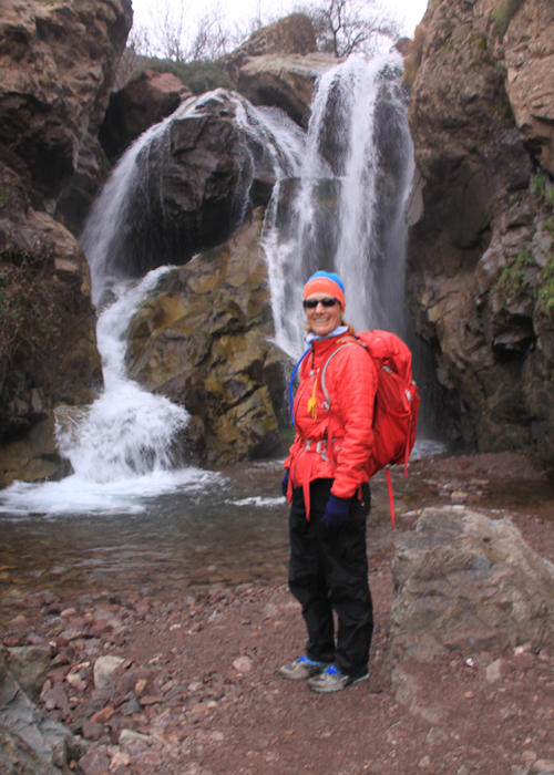 waterfall in the high atlas mountains