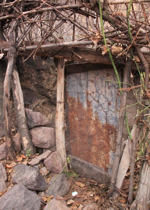 old door in high atlas mountains