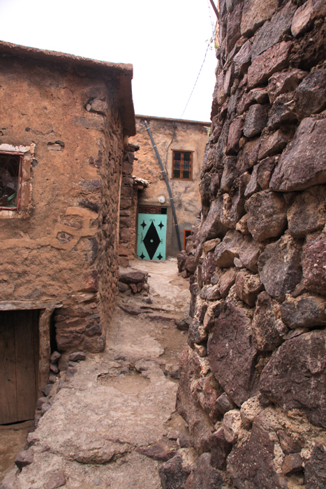 alley way in village in the high atlas mountains