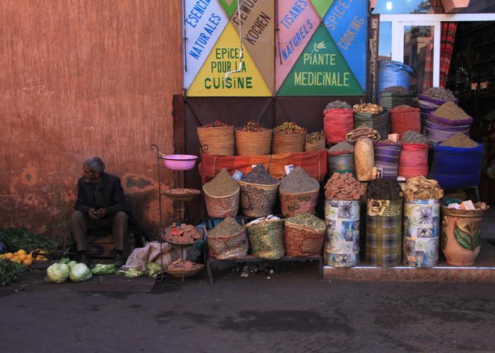 spices in Marrakesh medina