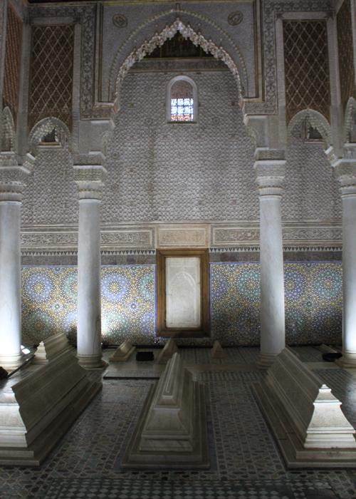 mausoleum at the saadian tombs in Marrakesh