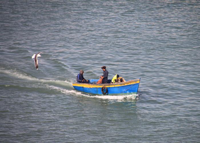fishermen on Bou Regreg river