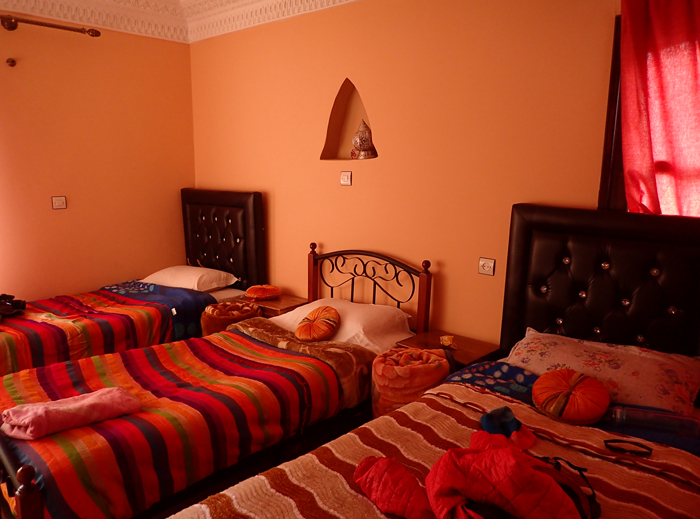 our room in our riad