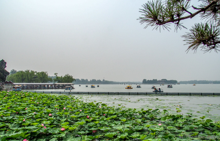 lake at summer palace in beijing