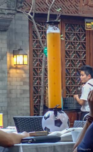 soccer beer bong in beijing