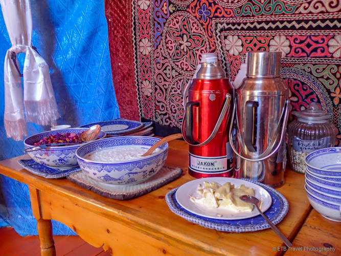 carbohydrate breakfast on the mongolian steppe