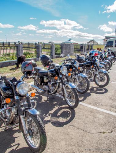 motorcycles at kharkhorin Museum