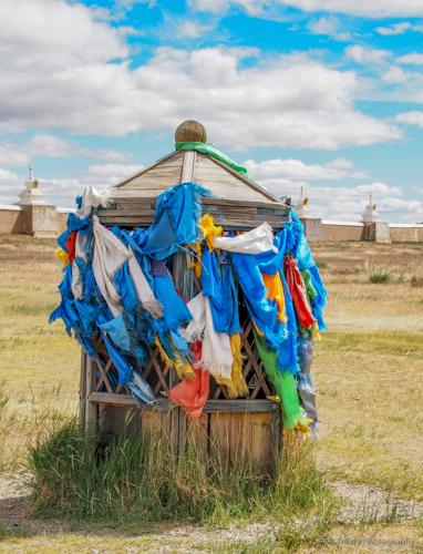 khatas hanging at Erdene Zuu Khiid