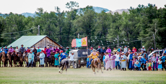 finish line at naadam horse race