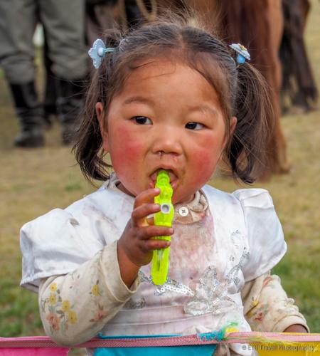 mongolian girl at naadam