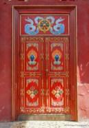 blue khata at the top of door