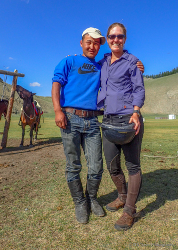 Jagi and me on the Mongolian Steppe