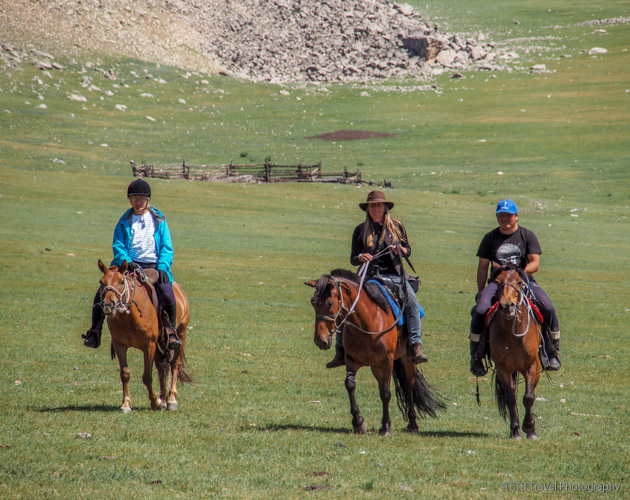 riding on the mongolian
