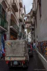 the main shopping street in Amalfi