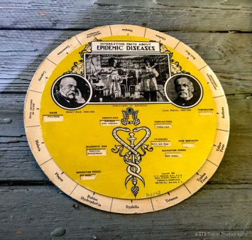 Love this! Spin the outside circle to see symptoms and treatments for each disease. The old internet!
